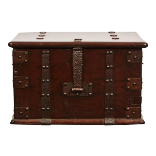 Late 18th Century Iron Bound Money Safe