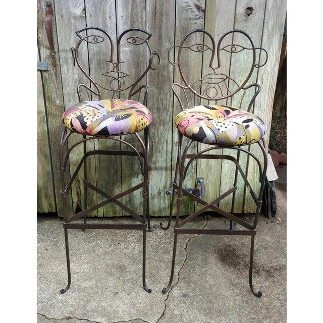 John Risley Style Bar Stools - Set of 4 - Image 4 of 10