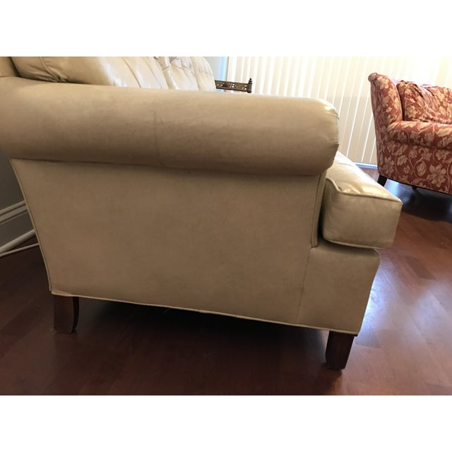Hancock And Moore Tufted Leather Sofa: Beige Leather Sofa By Hancock & Moore