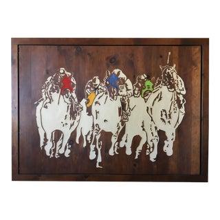 Horse Racing Carved Art by Ken Daddario