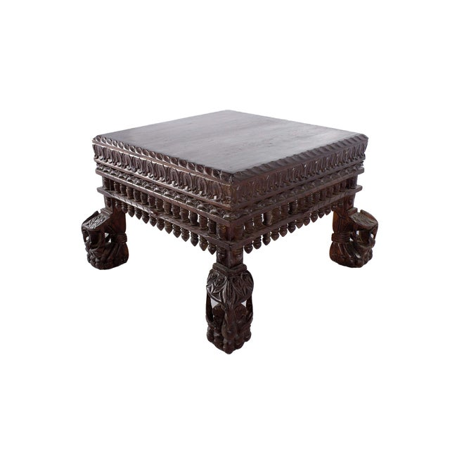 Teak Wood Peacock Coffee Table - Image 2 of 3