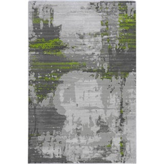Contemporary Green Abstract Rug - 5′ × 8′