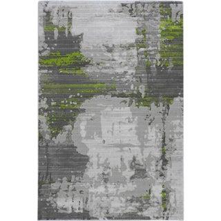 Contemporary Green Abstract Rug - 5′ × 8′