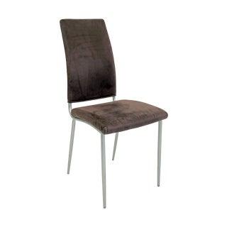 Contemporary Purple Velvet Upholstered Side Chair