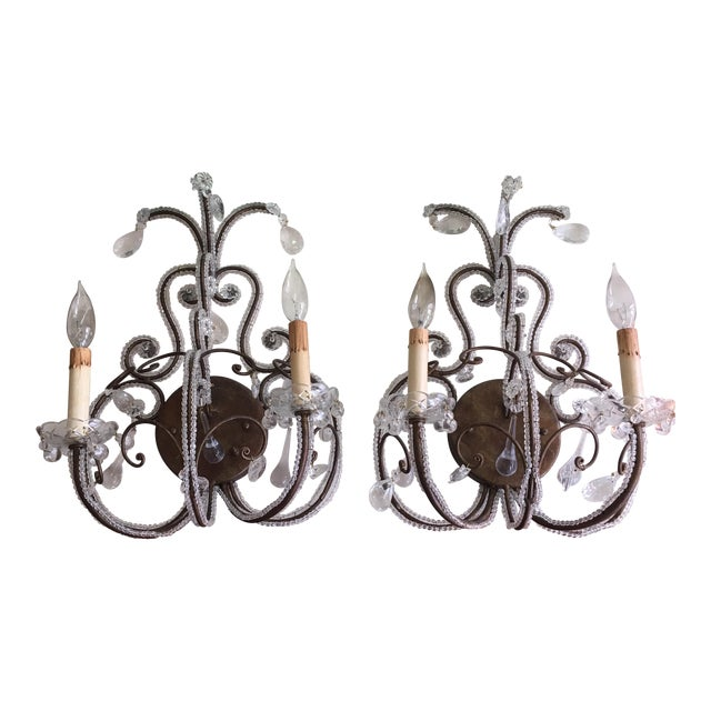 Mid-Century Sconces - A Pair - Image 1 of 4