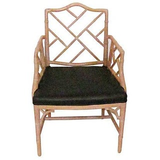 Faux-Bamboo Wood Armchair