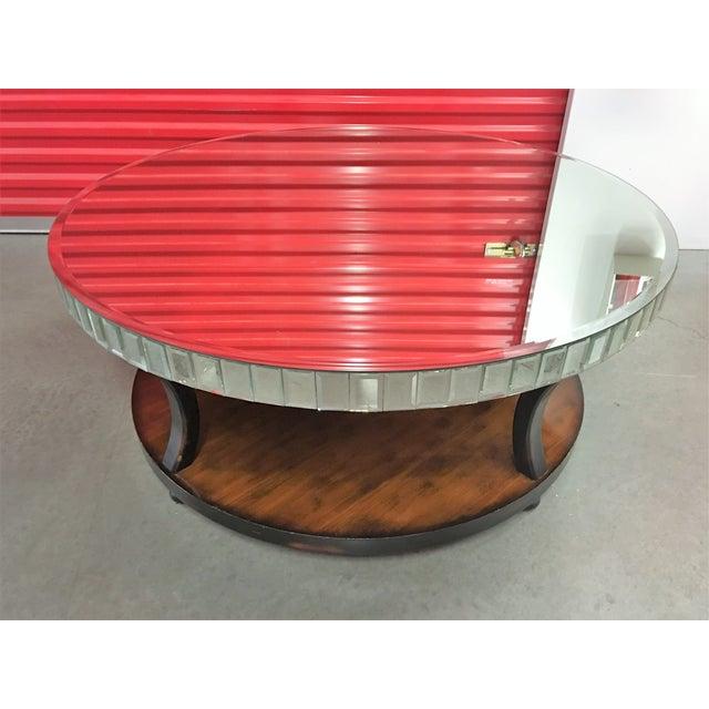 Round Beveled Mirror Coffee Table Chairish