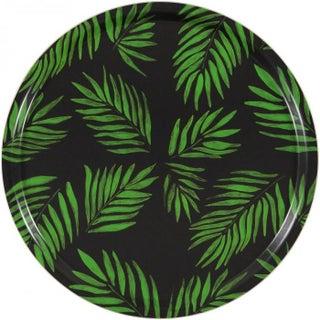 """Palm Beach Green"" Round Tray"