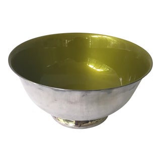 Reed & Barton Green Enamel Bowl