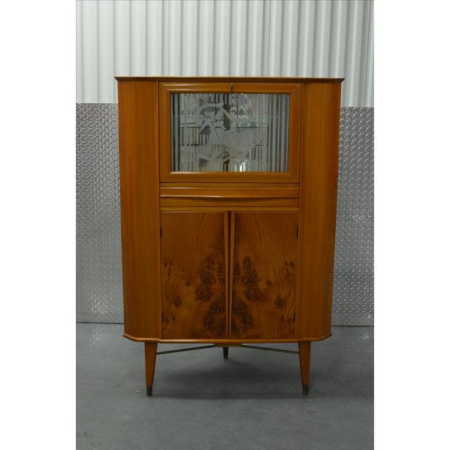 Mid-Century Scandinavian Corner Bar Cabinet - Image 2 of 7