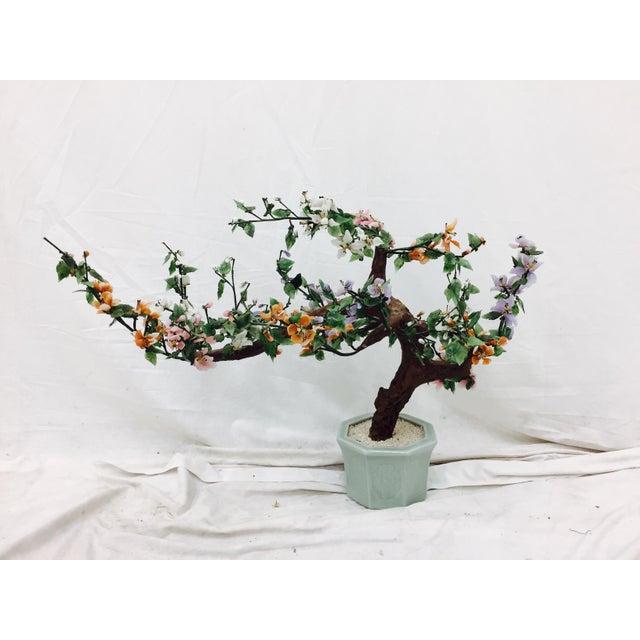 Vintage Mixed Stone Bonsai Tree Sculpture - Image 2 of 11