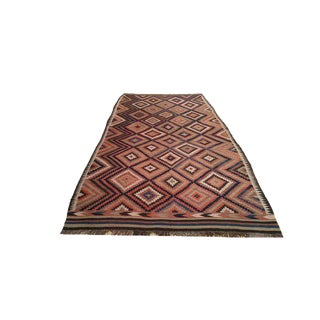 Traditional Vintage Kilim Hand Knotted Rug - 5′8″ × 13′5″