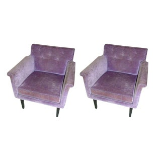 Edward Wormley for Dunbar Club Chairs - a Pair