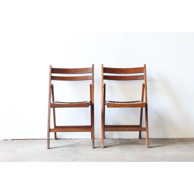 Walnut Folding Chair - Image 2 of 4