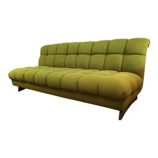 Mid-Century Green Tufted Sofa