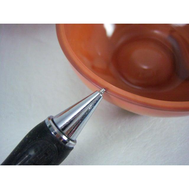 Slag Glass Peach Shaped Box Vintage - Image 8 of 8