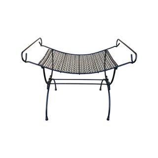 Mid-Century Metal Vanity Seat