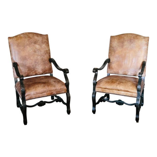 Stanford Furniture Leather Chairs - A Pair - Image 1 of 5