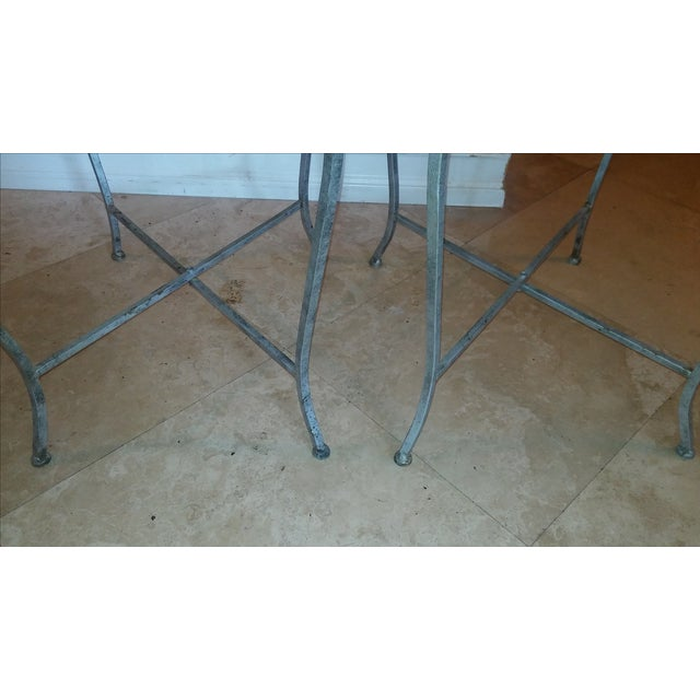 Silvery Indoor/ Outdoor Metal Tray Tables - Image 6 of 7