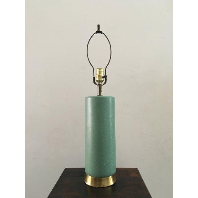 Mid-Century Turquoise Ceramic Table Lamp - Image 6 of 8
