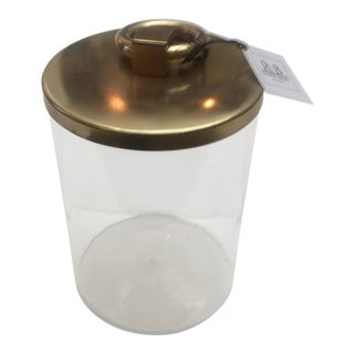 Brass and Glass Lidded Jar