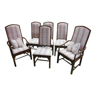 Henredon Pan Asian Dining Chairs - Set of 6