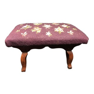 1844 Documented Needlepoint Footstool