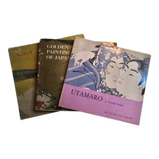 Utamaro Korin & Golden Screen Painting Books - Set of 3