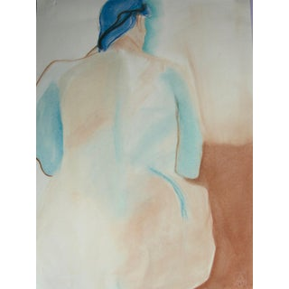 """Woman With Blue Hair"" Pastel Drawing"