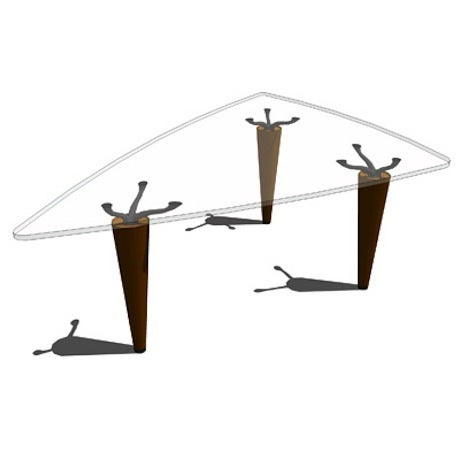 Cassina Oskar Triangular Table - Image 3 of 10