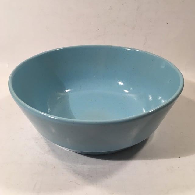 Frankoma Westwind Blue Serving Bowl - Image 3 of 6
