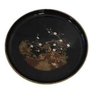Black Chinoiserie Tray