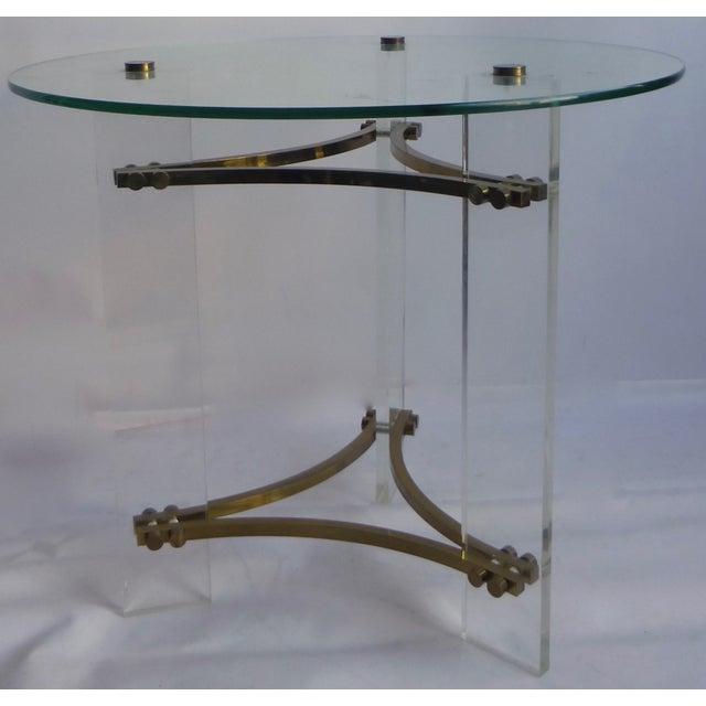 Image of Charles Hollis Jones Lucite Table