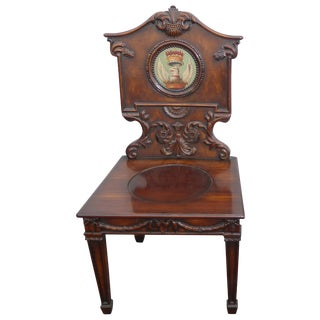 Pair of Federal Style Griffin Crest Accent Chair