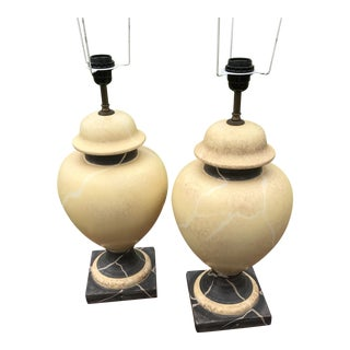 Mid-Century Modern Ceramic Lamps - A Pair