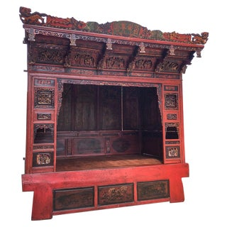 19th-Century Chinese Opium Canopy Bed