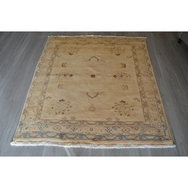 "Pale Yellow Oushak Rug - 5' X 5'7"" - Image 2 of 3"