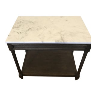 Restoration Hardware Cararra Marble Side Table