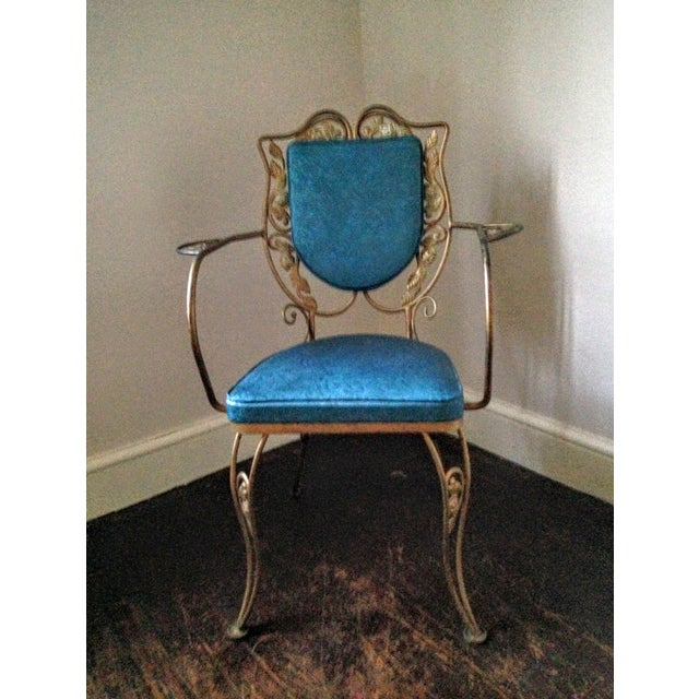 Mid Century Hollywood Regency Accent Chair - Image 6 of 11