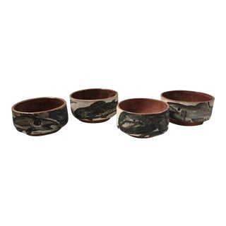 Sam Dowd Ceramic Fish Bowls - Set of 4
