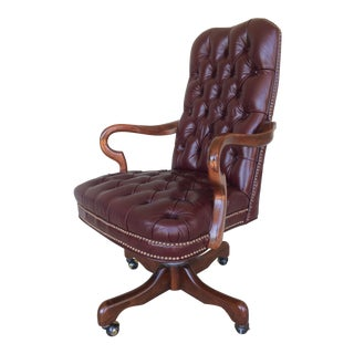Fairfield Burgundy Leather Desk Chair