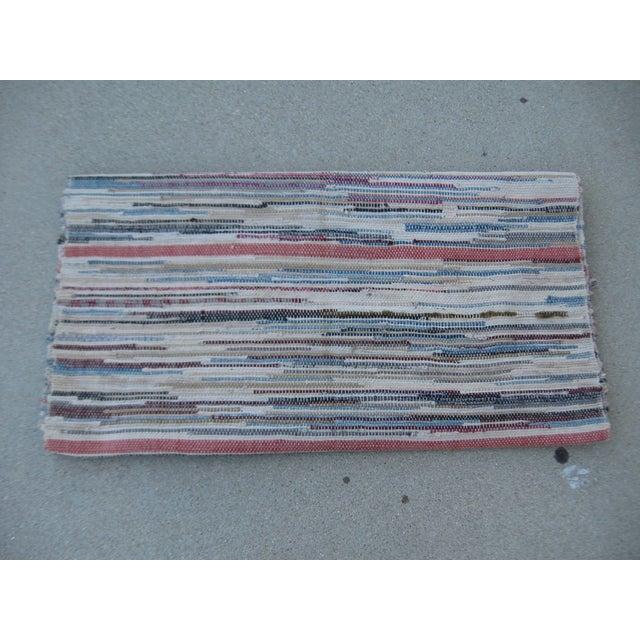 Americana Rag Rug Runner - 2′8″ × 10′4″ - Image 7 of 8