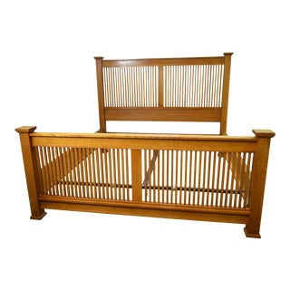 Stickley Mission Oak King Size Prairie Bed