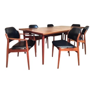 Danish Modern Arne Vodder For Sibast Teak Dining Set