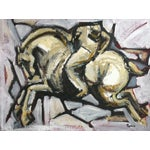Image of Polo VI Painting by Heidi Lanino