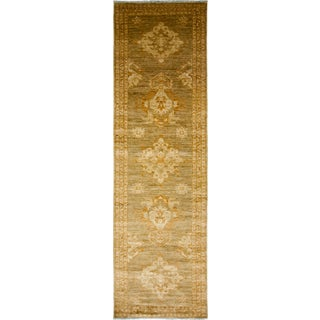 "Turkish Oushak Hand-Knotted Runner Rug - 2'7"" X 9'8"""