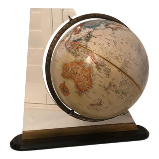 1970's World Globe With Acrylic Stand