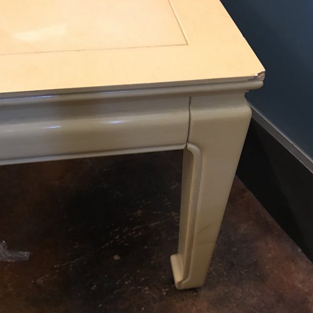 Henredon Goatskin Lacquered End Tables - a Pair - Image 9 of 9