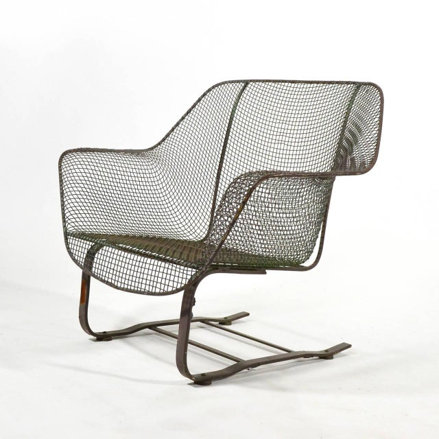 Woodard Sculptura Large Cantilevered Lounge Chair - Image 5 of 7