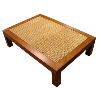 Woven Jute Coffee Table